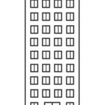 Шаблон для рисования многоэтажного дома