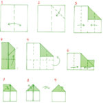 Схема дома в технике оригами