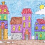 Разноцветные домики