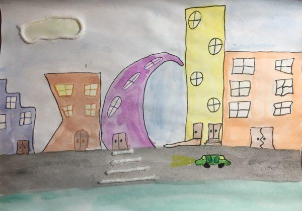 Конкурсная работа «Город мечты» ребёнка 6,5 лет