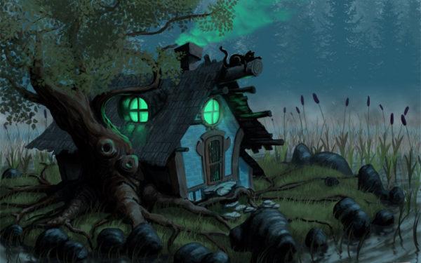 Дремучий лес в сказке