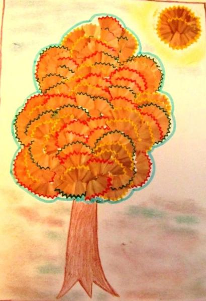 Сказочное дерево с необычной аппликацией