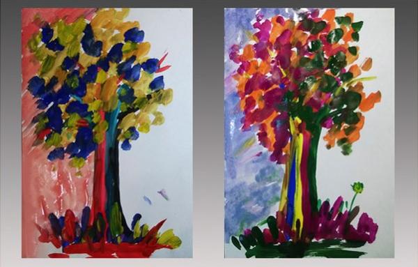 Сказочные деревья с фоном