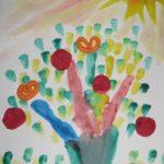 Сказочное дерево, рисунок в средней группе