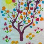 Кляксография: сказочное дерево