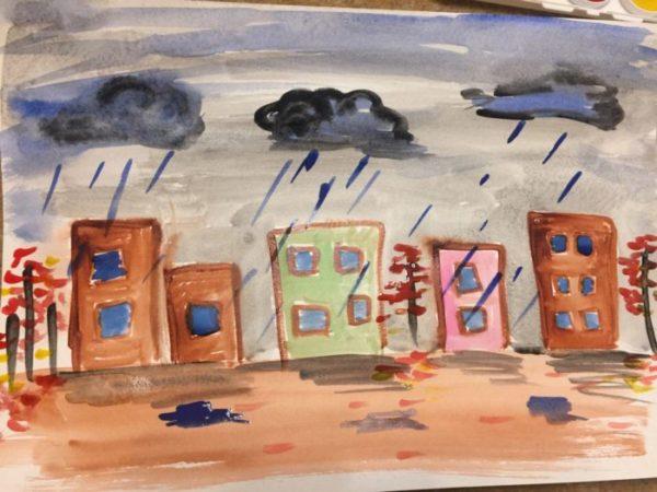 Рисунок «Осень пришла в город»