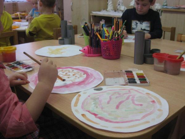 Рисование тарелки в средней группе