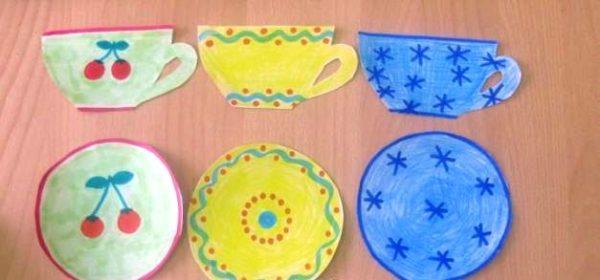 Рисунки: чашки и блюдца