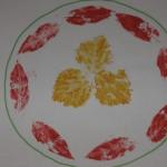Рисование «Тарелка», отпечатывание