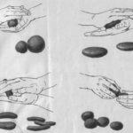 Положение рук для основных приёмов лепки