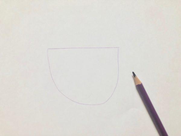 Рисование «Посуда: чашка», этап 1