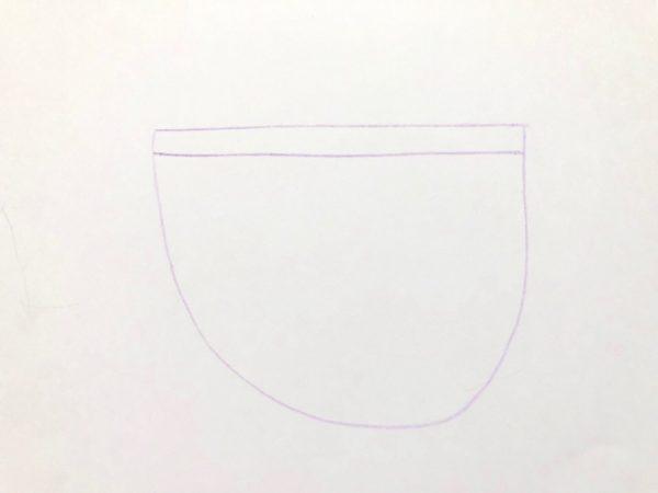 Рисование «Посуда: чашка», этап 2