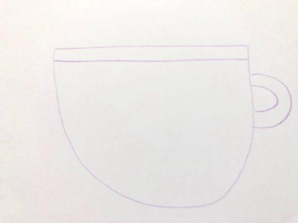 Рисование «Посуда: чашка», этап 3