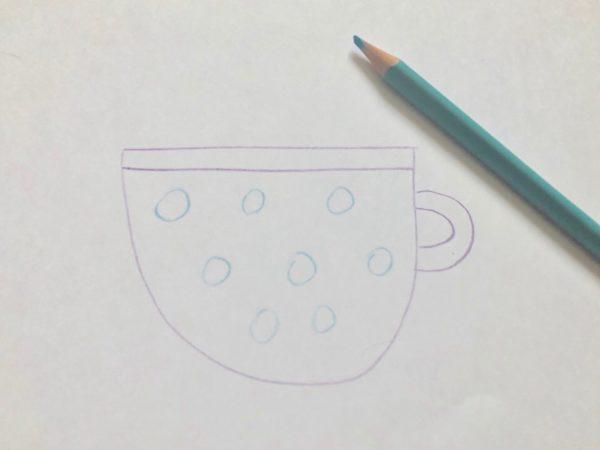 Рисование «Посуда: чашка», этап 4