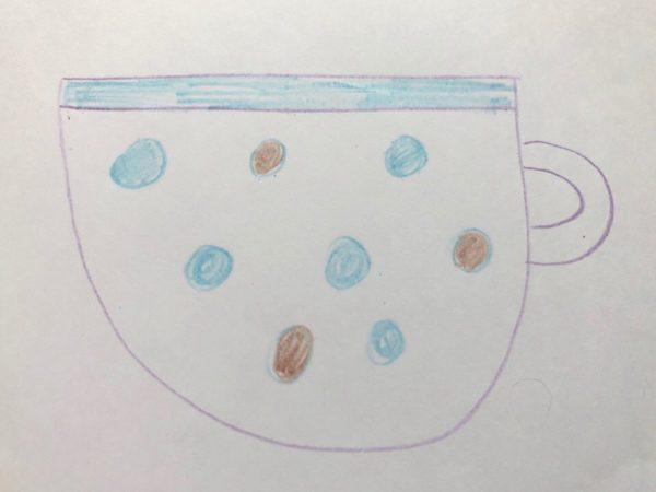 Рисование «Посуда: чашка», этап 5