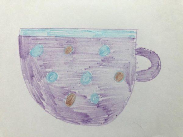 Рисование «Посуда: чашка», этап 6
