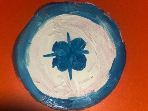 Рисование «Посуда: тарелка», этап 4