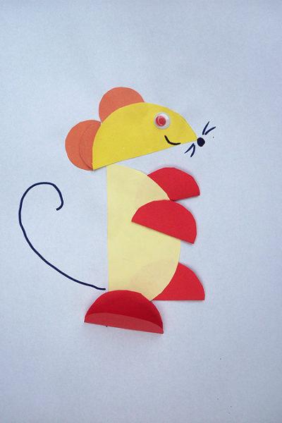 Мышка из полукругов