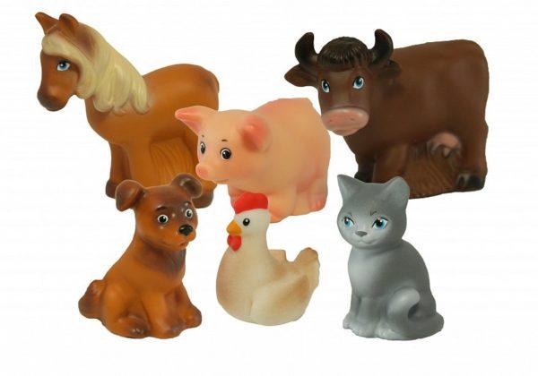 Домашние животные — резиновые фигурки