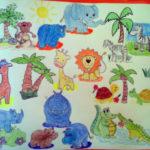 Экзотические животные с пальмами