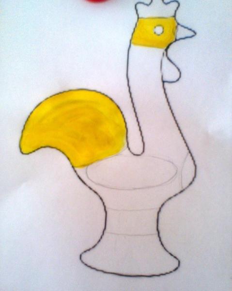 Каргопольская роспись, этап 2