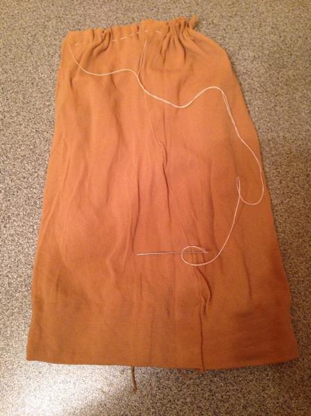 Мешочек из ткани для основы куклы-Масленицы
