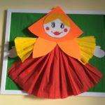 Аппликация: кукла-Масленица из бумаги
