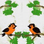 Птички в монотипии