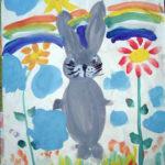 Заяц гуашью