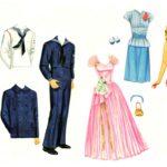Шаблон мужской и женской одежды