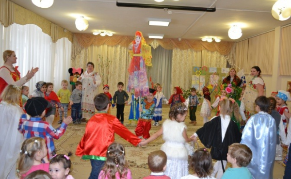 Прощание с Масленицей в детском саду