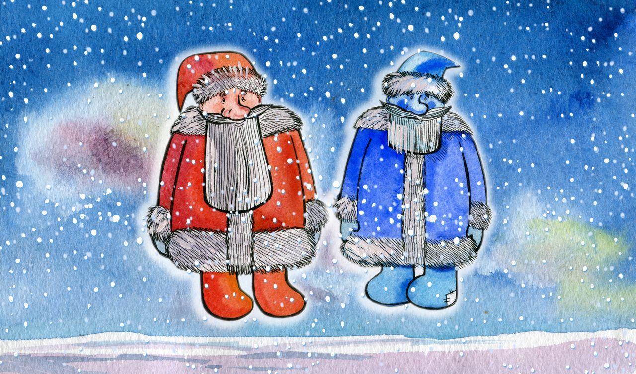 народная сказка два мороза с картинками милые феечки