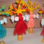 Масленичные куклы из ниток