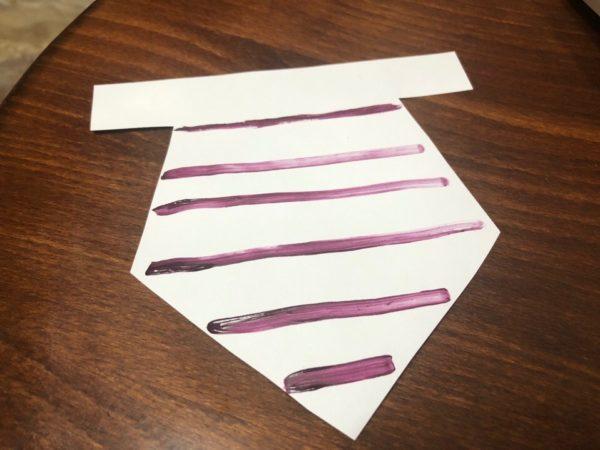 Украшение фартука геометрическим узором, этап 1