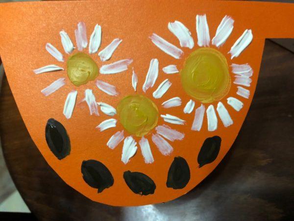 Фартук с цветочным узором, этап 5