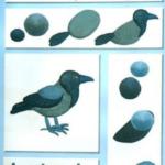 Схема лепки вороны