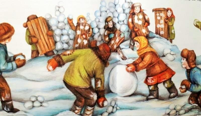 зимние народные забавы