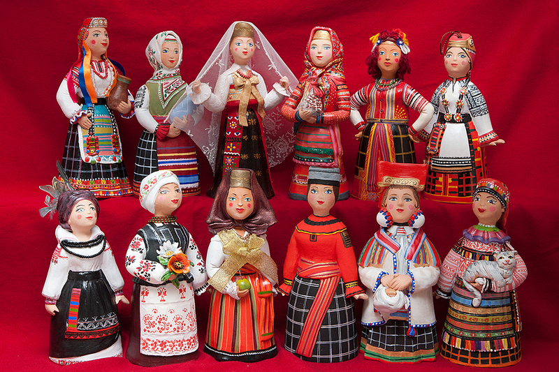 фартук русский костюм