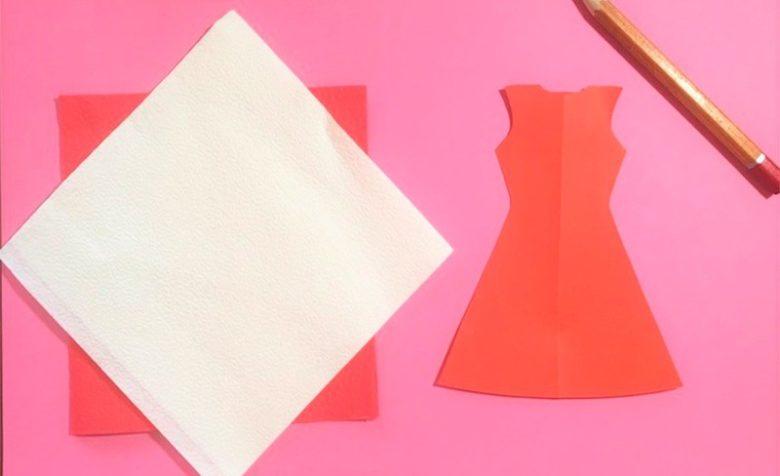 Заготовка для аппликации платья