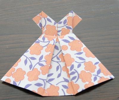 Платье в технике оригами