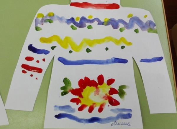 Рисование свитера гуашью
