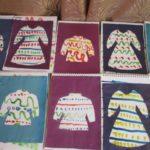 Примеры детских работ на тему «Узоры для одежды»