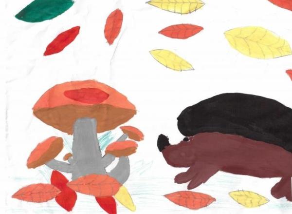 «Ёжик и грибы»