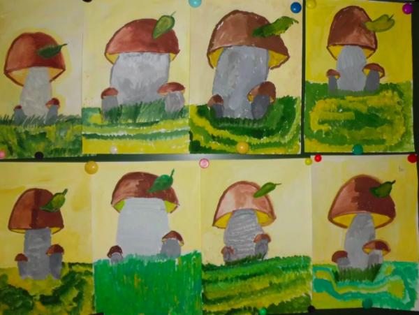 Выставка работ «Грибы для белочки»
