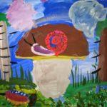 «Улитка на грибе»