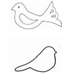 Шаблон Птичка