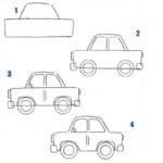 Схема рисунка легкового автомобиля