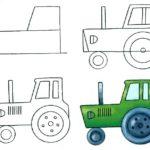 Схема рисунка трактора
