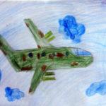 Самолёт карандашами