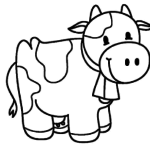 Шаблон Корова